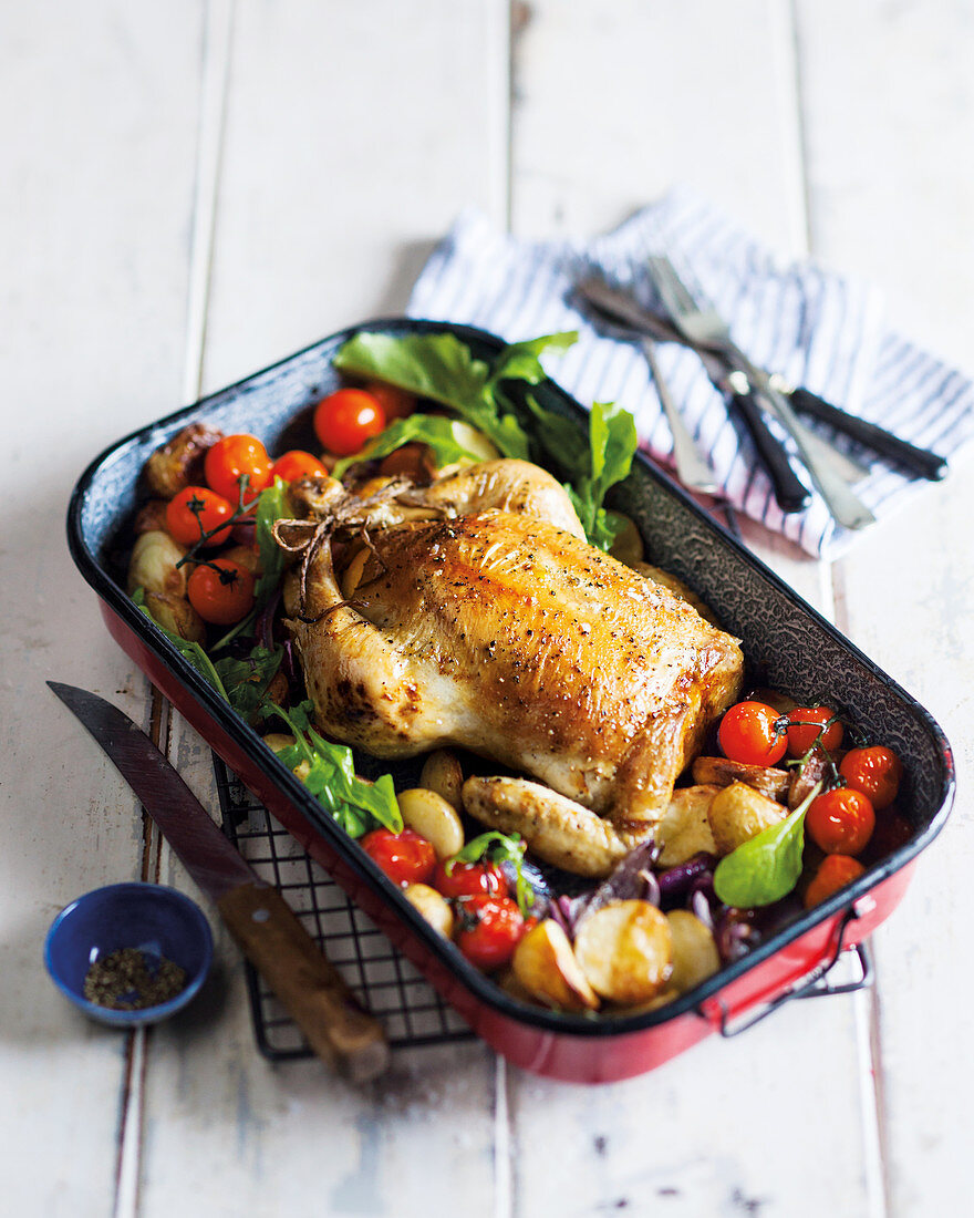 Perfect lemon and garlic roast chicken