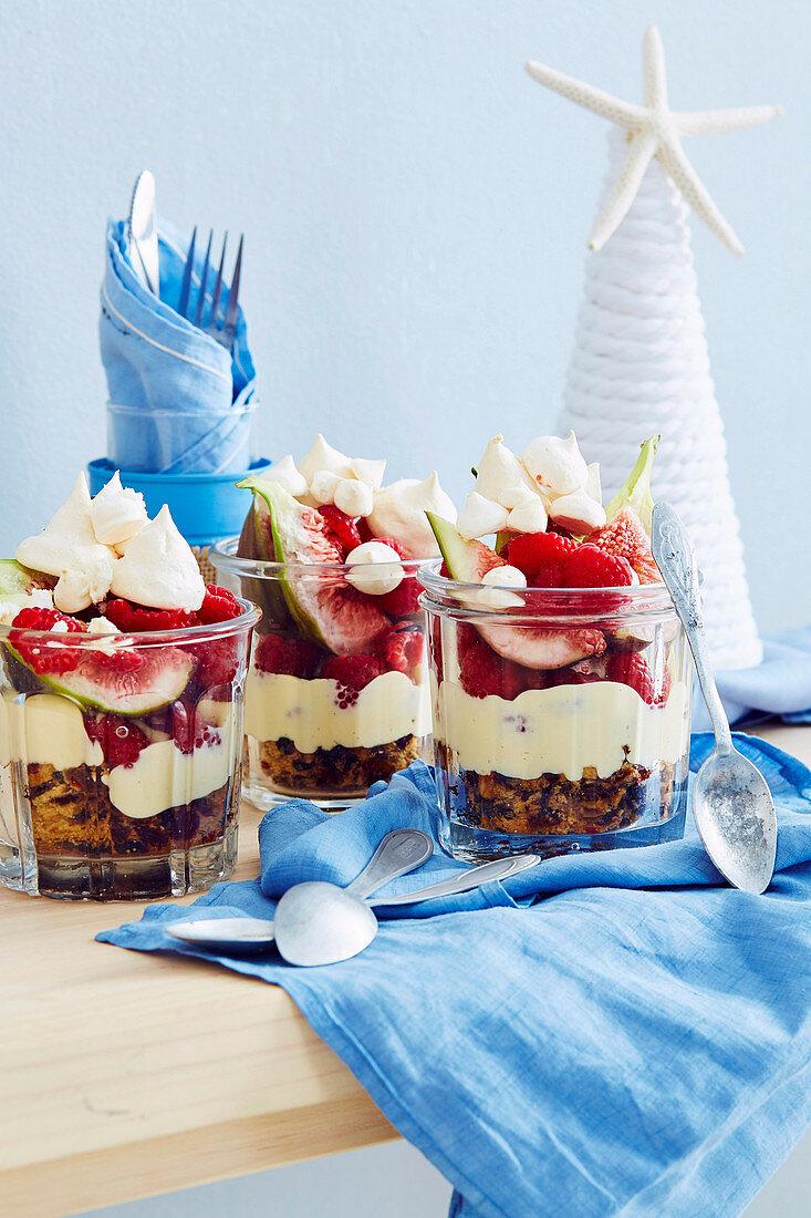 Fruit cake parfaits