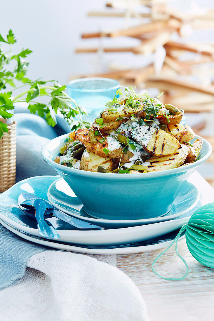 Herbed kipfler potato salad