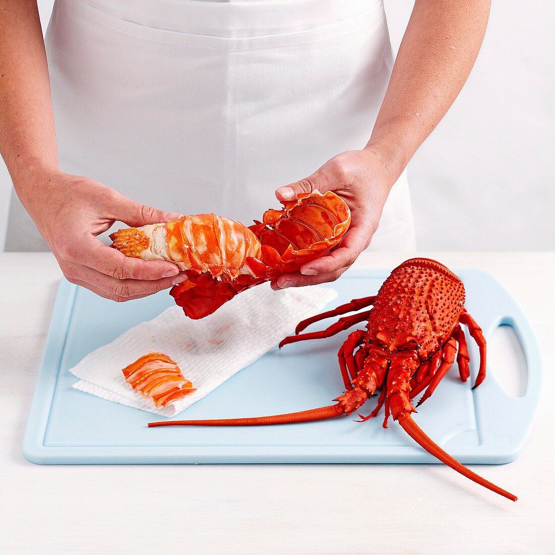 How to remove lobster tails