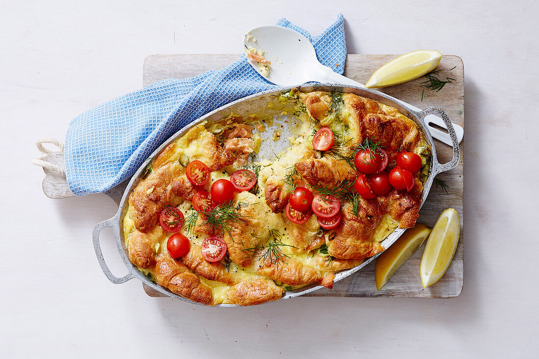 Christmas with Woman s Day - Christmas Day Brekkie - Croissant Breakfast Bake