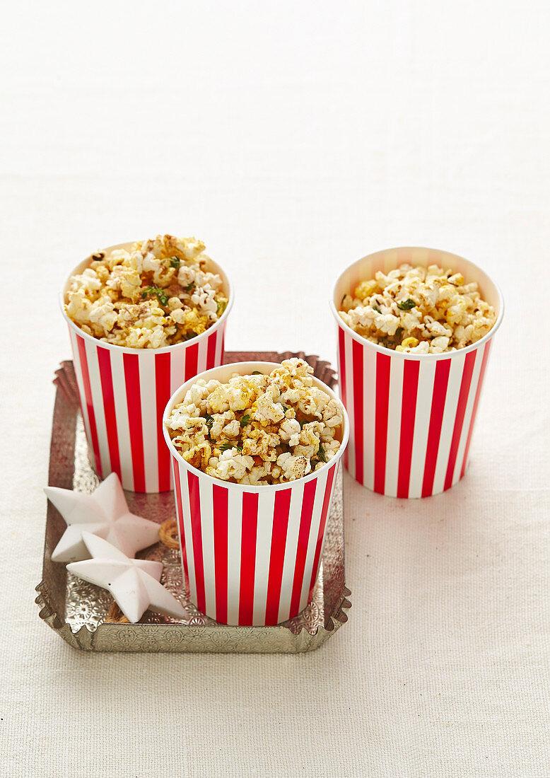 Christmas with Woman s Day - Extra-Special Santa Snacks - Sugar & Spice Christmas Popcorn