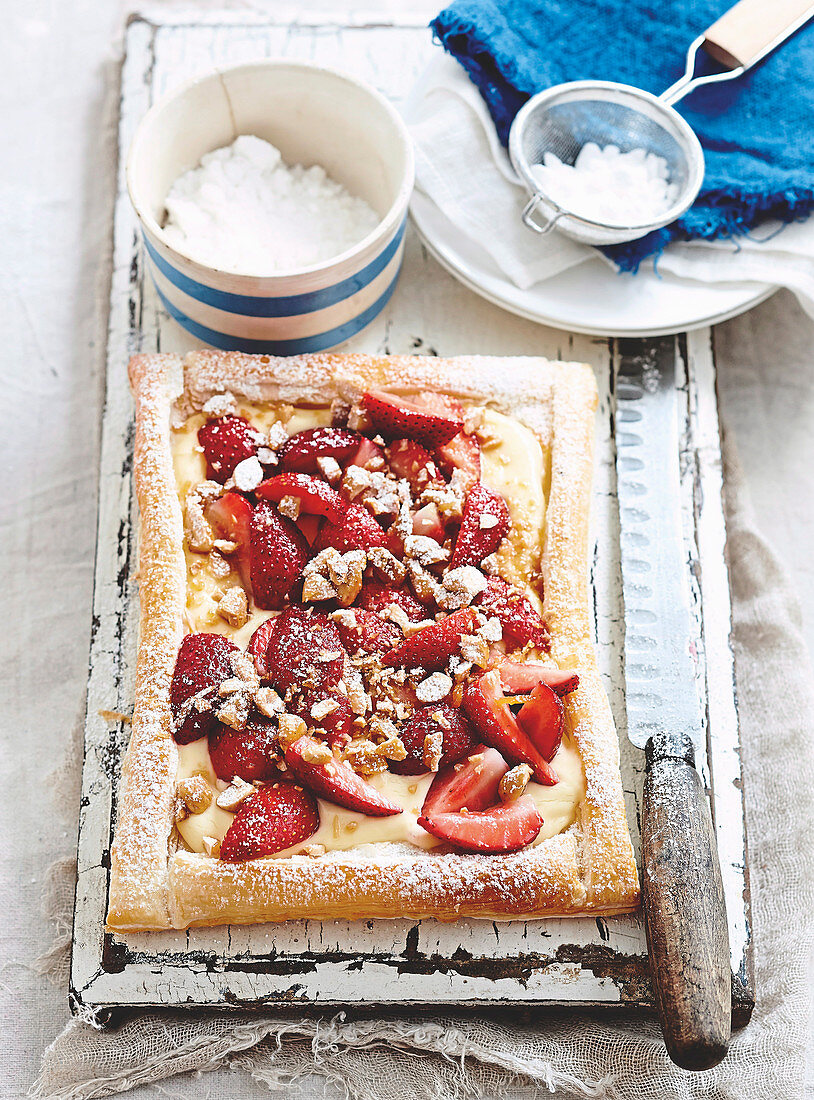 Strawberry and Toasted Almond tart