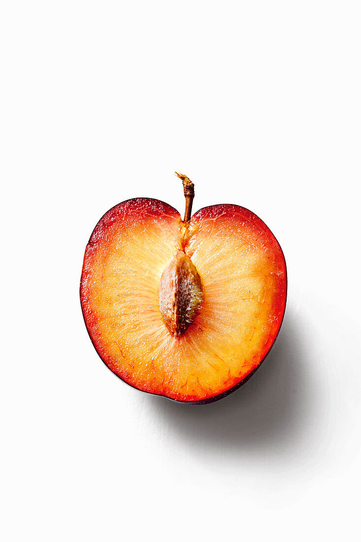 Halved plum
