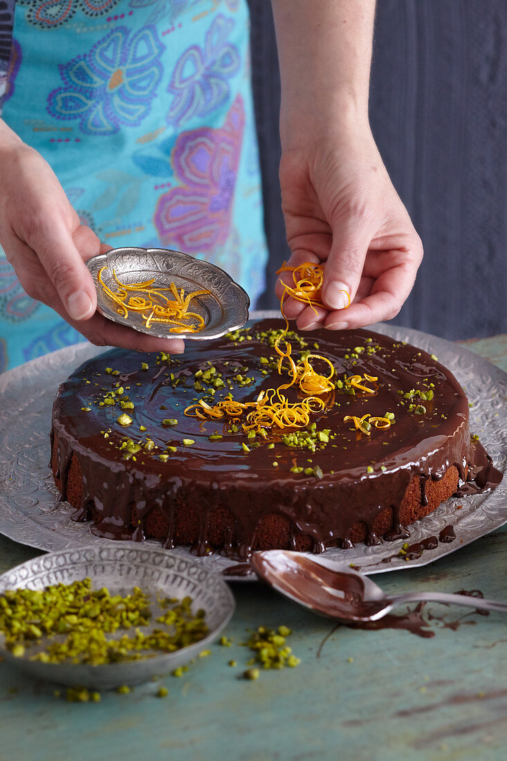 Lebanese chocolate-orange cake