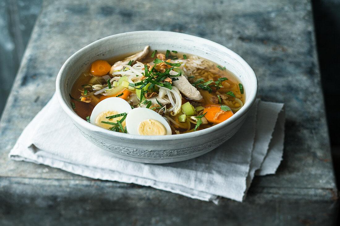 Indonesian saoto soup