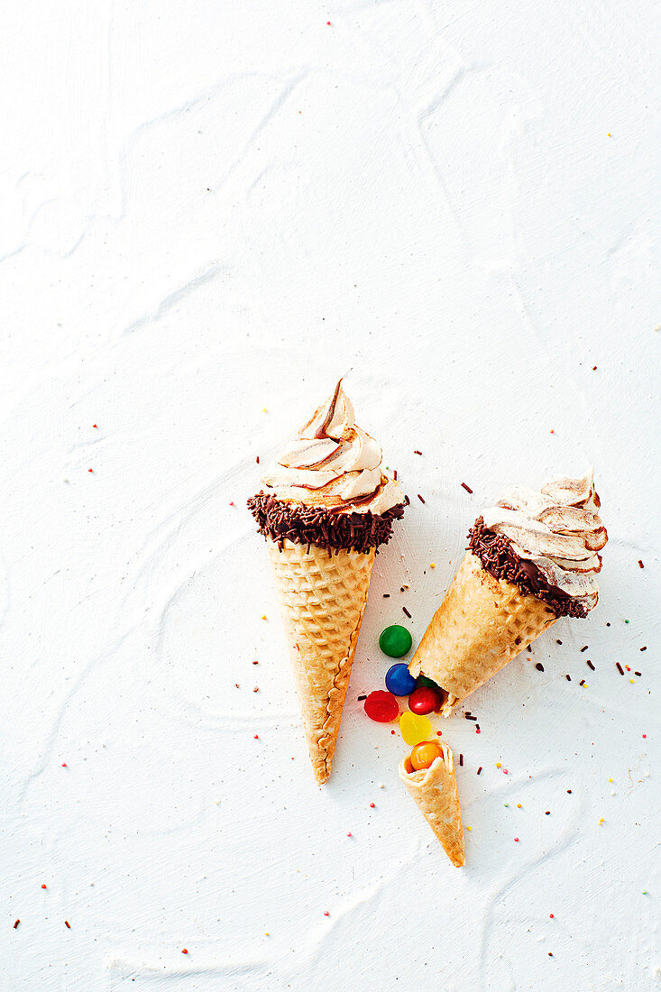 Pinata ice-cream cones