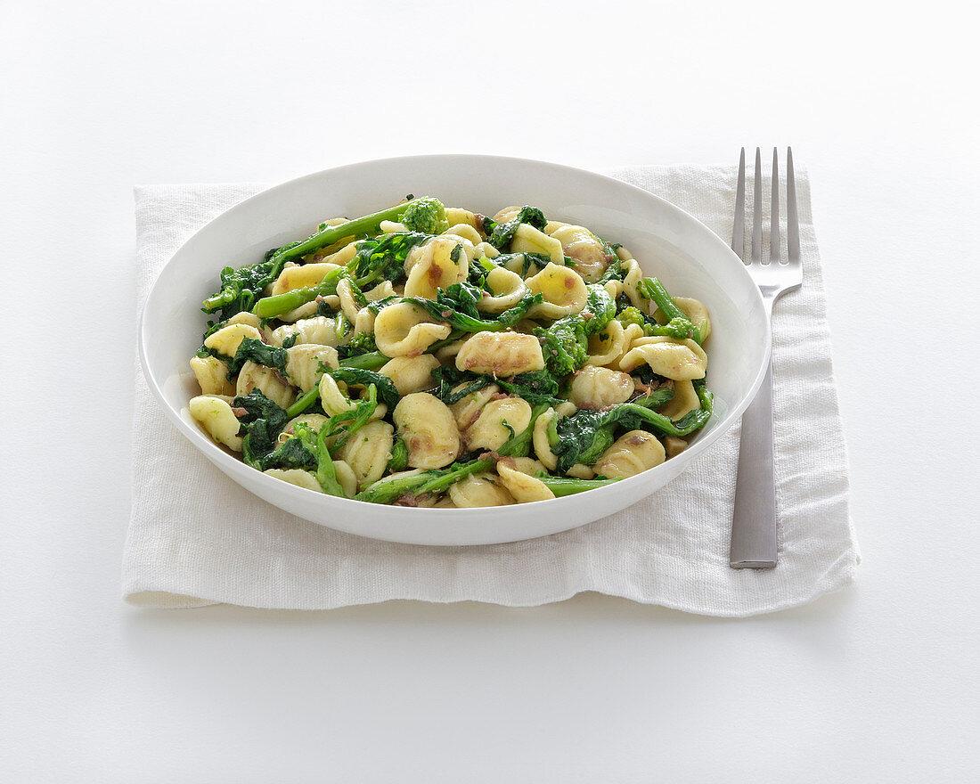 Orecchiette with Cime di Rapa (broccoli)