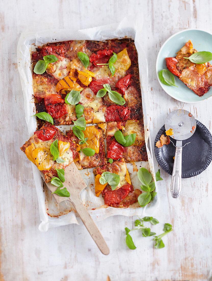 Low-Carb-Pizza mit Kohlraspelteig