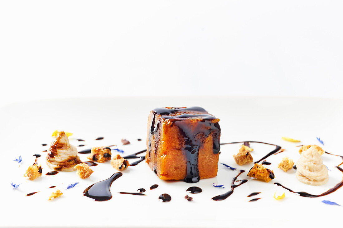 Carrot and perssimon dessert