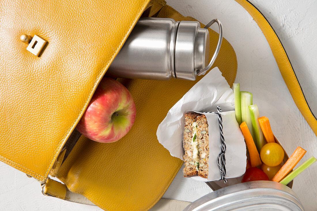 A bag of takeaway food