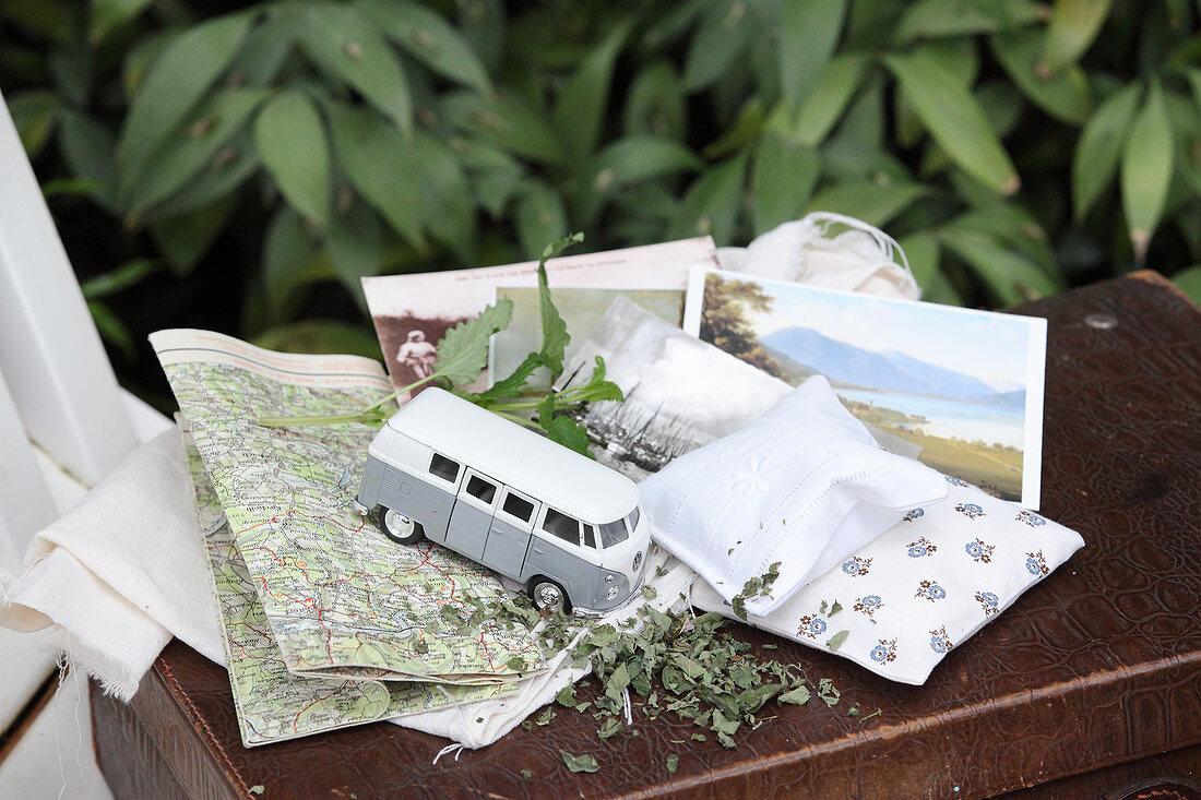 Calming herb sacks for travel sickness