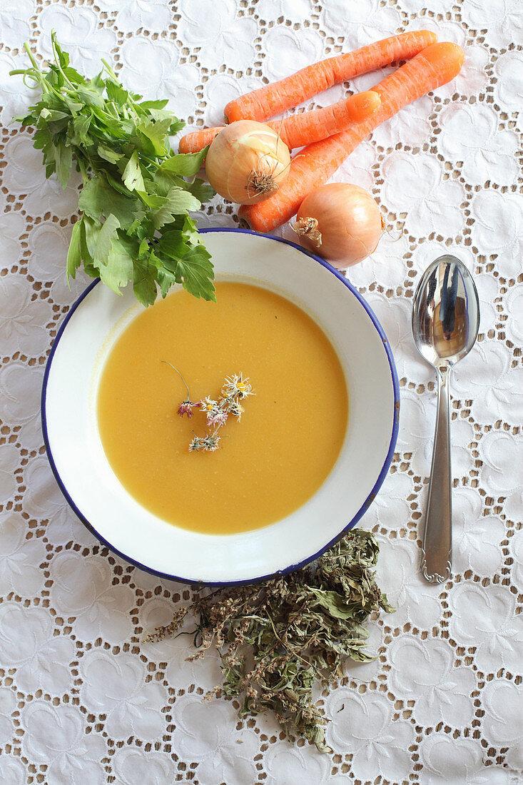 Vegetable soup for pregnant women
