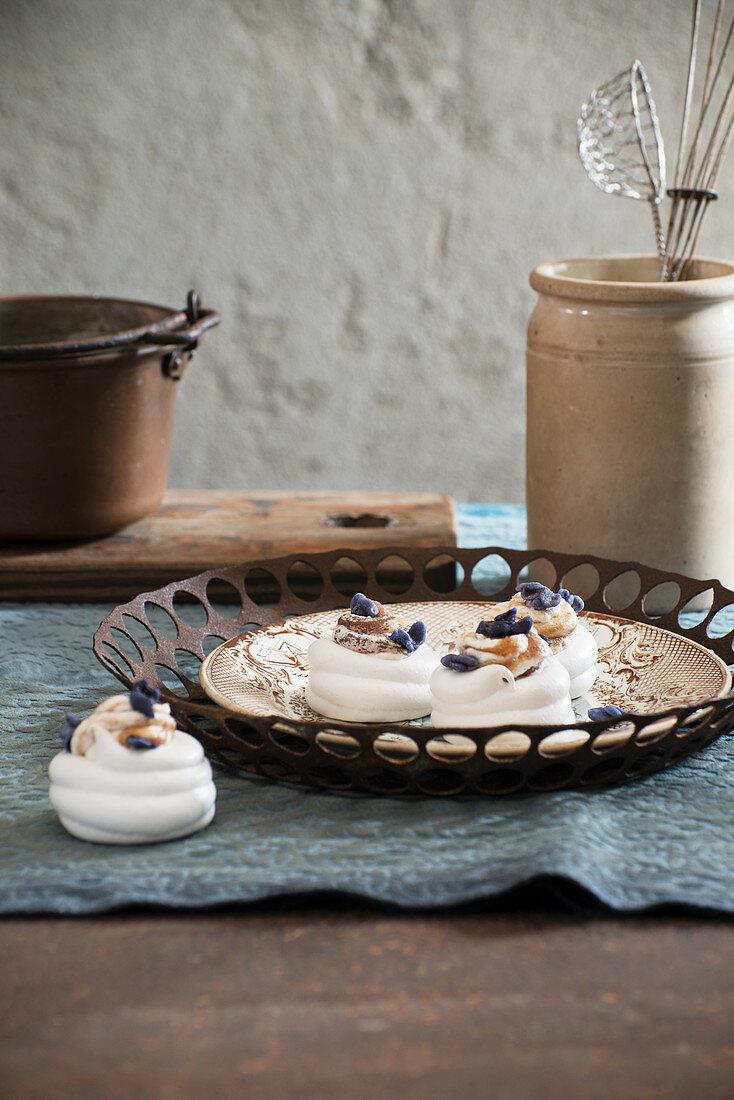 Mini Chestnut Cream Pavlovas