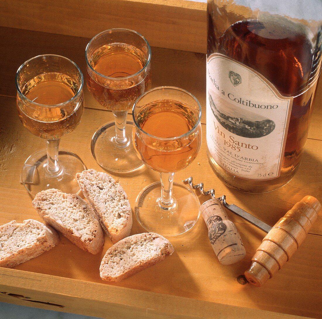 Biscotti di Prato e Vin Santo (almond cookies & dessert wine)