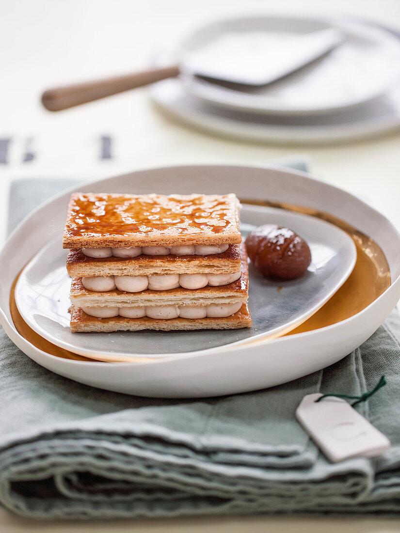 Millefeuille with Chestnut cream