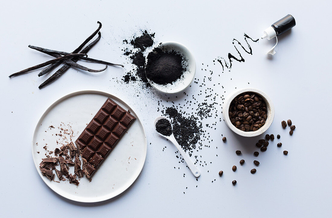 Ingredients for black food