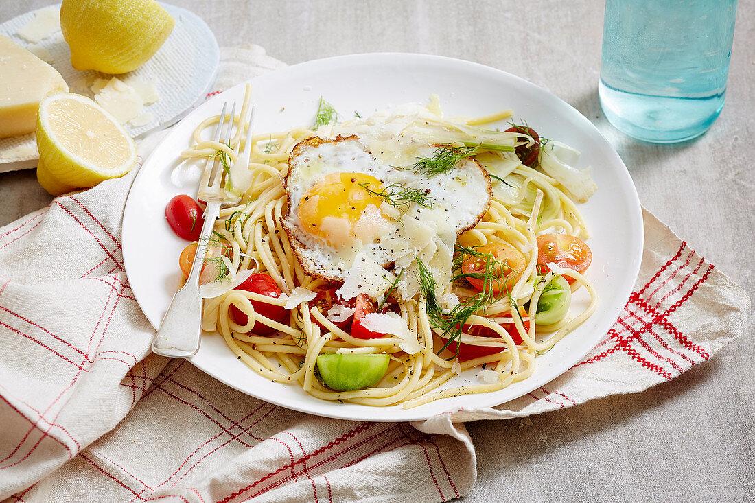 Heirloom Tomato and Fennel Spaghetti