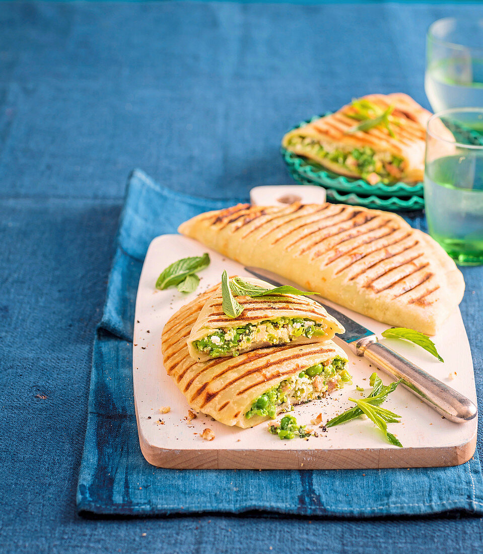 Minted Pea and Bacon Pockets