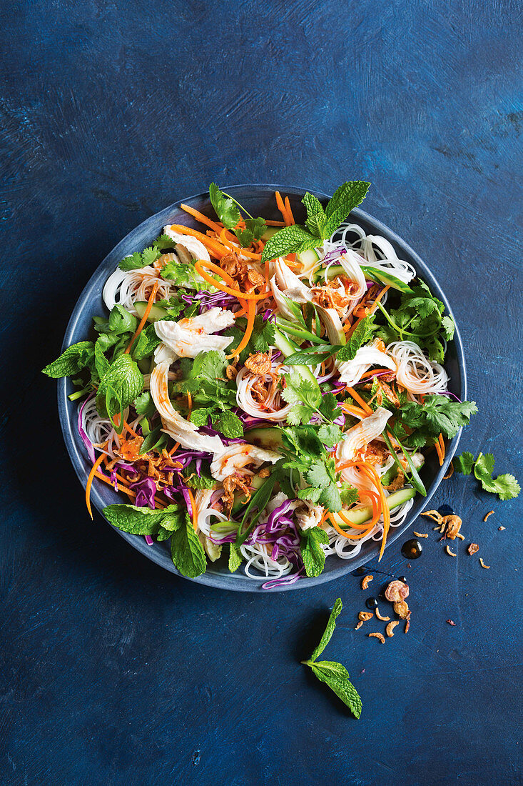 Slow-cooker shredded chicken salad