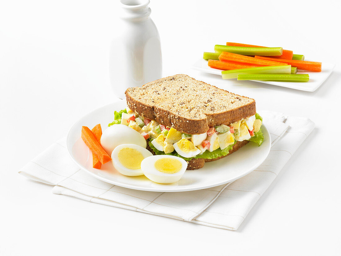 Sandwich with hard boiled egg