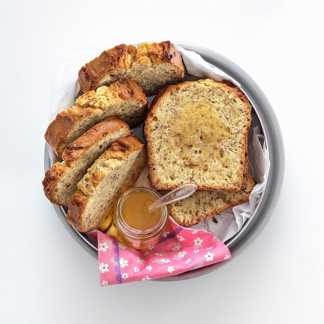 Almond cake with cardamom syrup