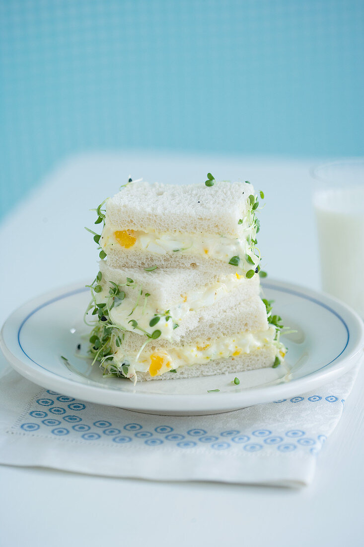 Sandwiches with egg salad
