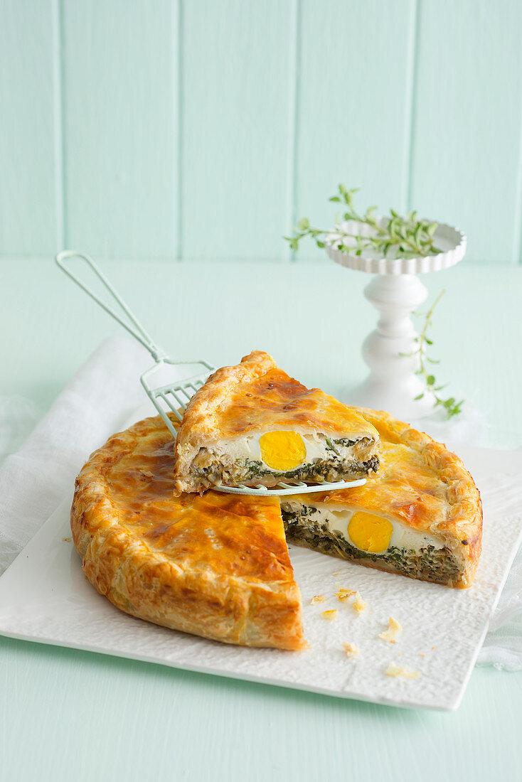 Puff pastry Torta Pasqualina