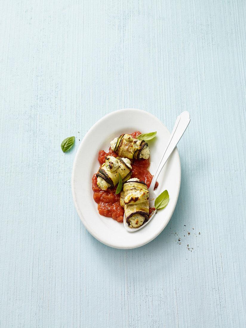 Aubergine cannelloni (no carb)