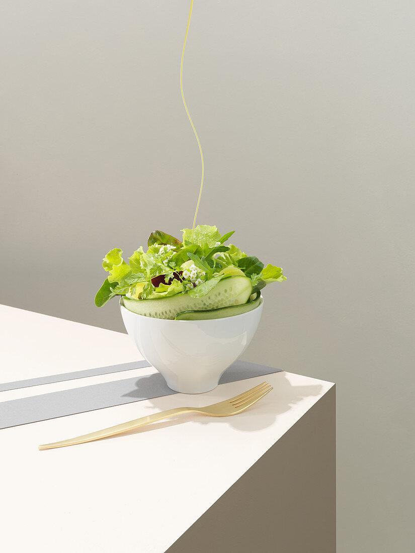 Spring cucumber salad