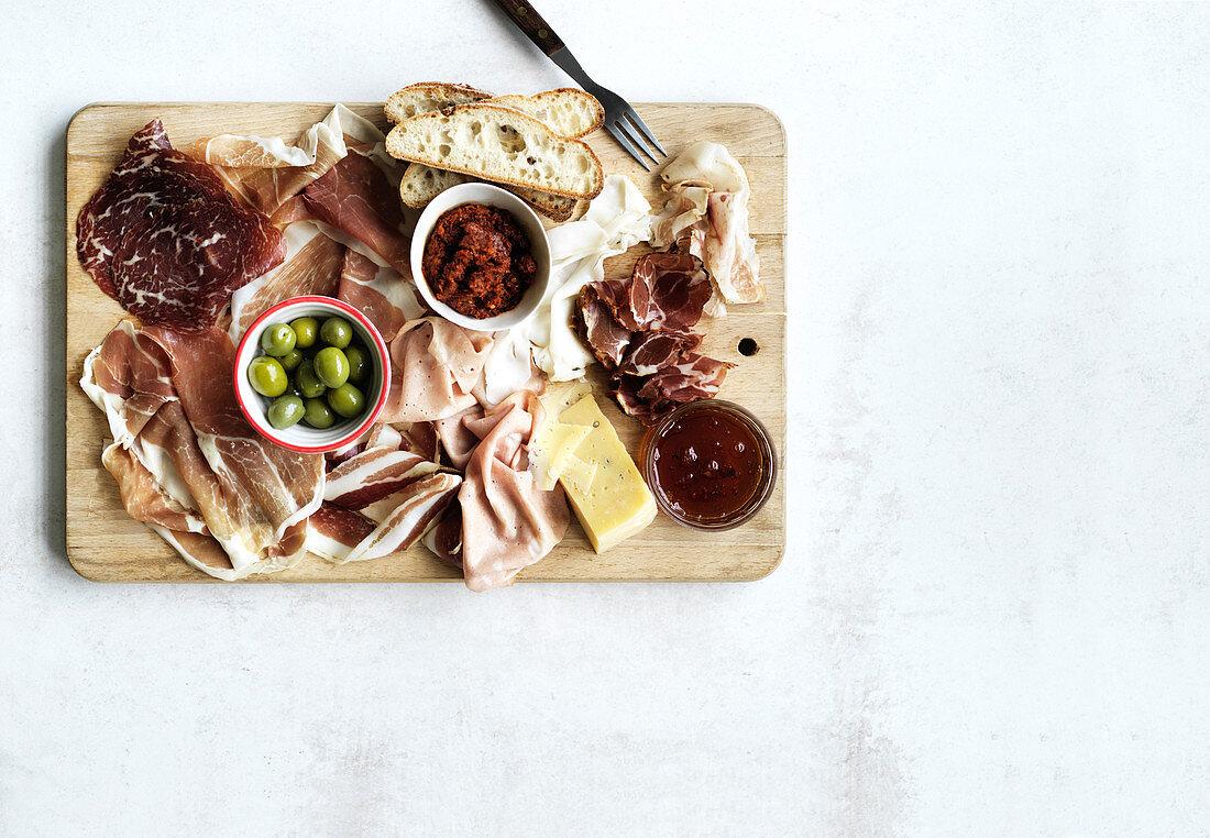 Cured meats - Bresola, Prosciutto, Nduja, Guanciale, Capocollo, Coppa, Lardo, Mortdella, Cotechino, Pancetta, Culatello