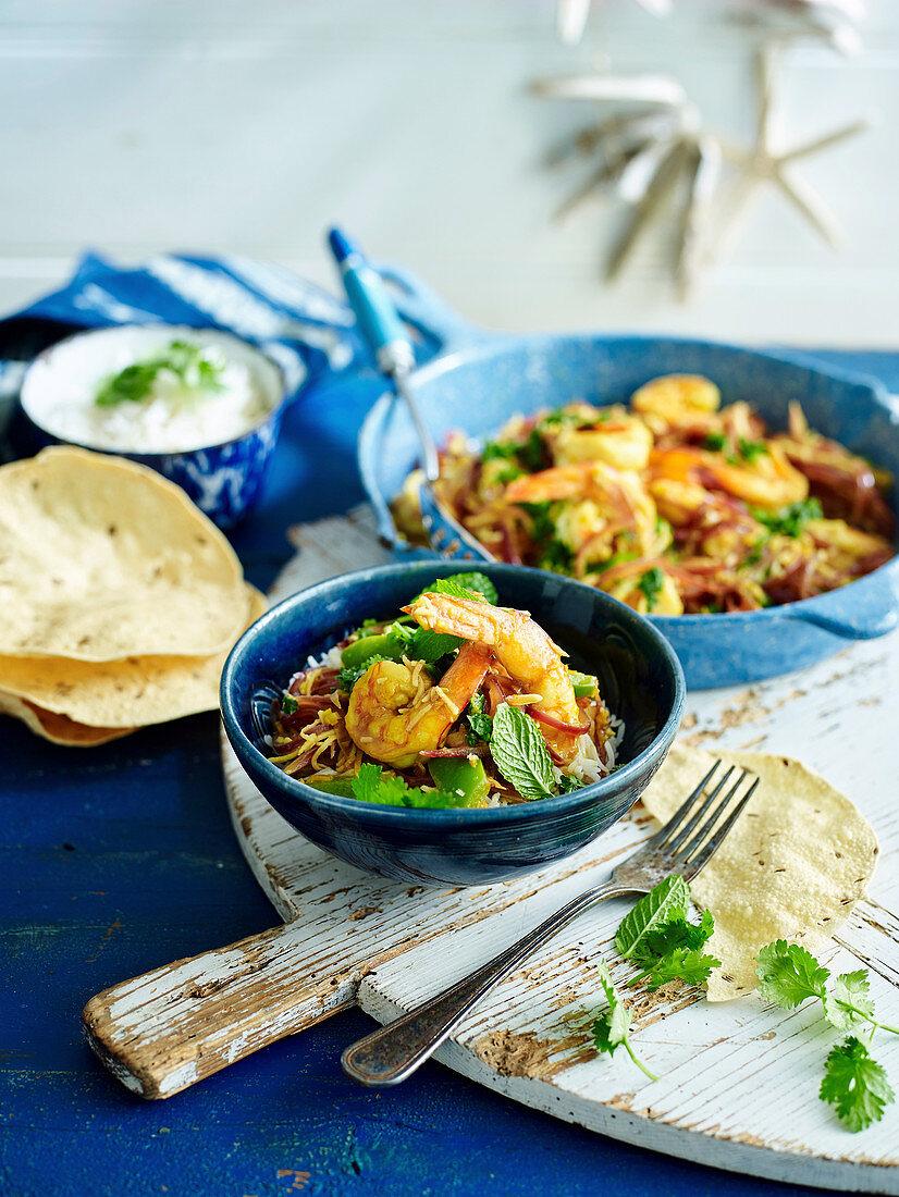 Indian prawn curry