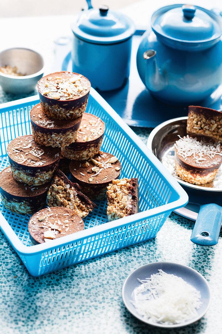 Chocolate almond cups