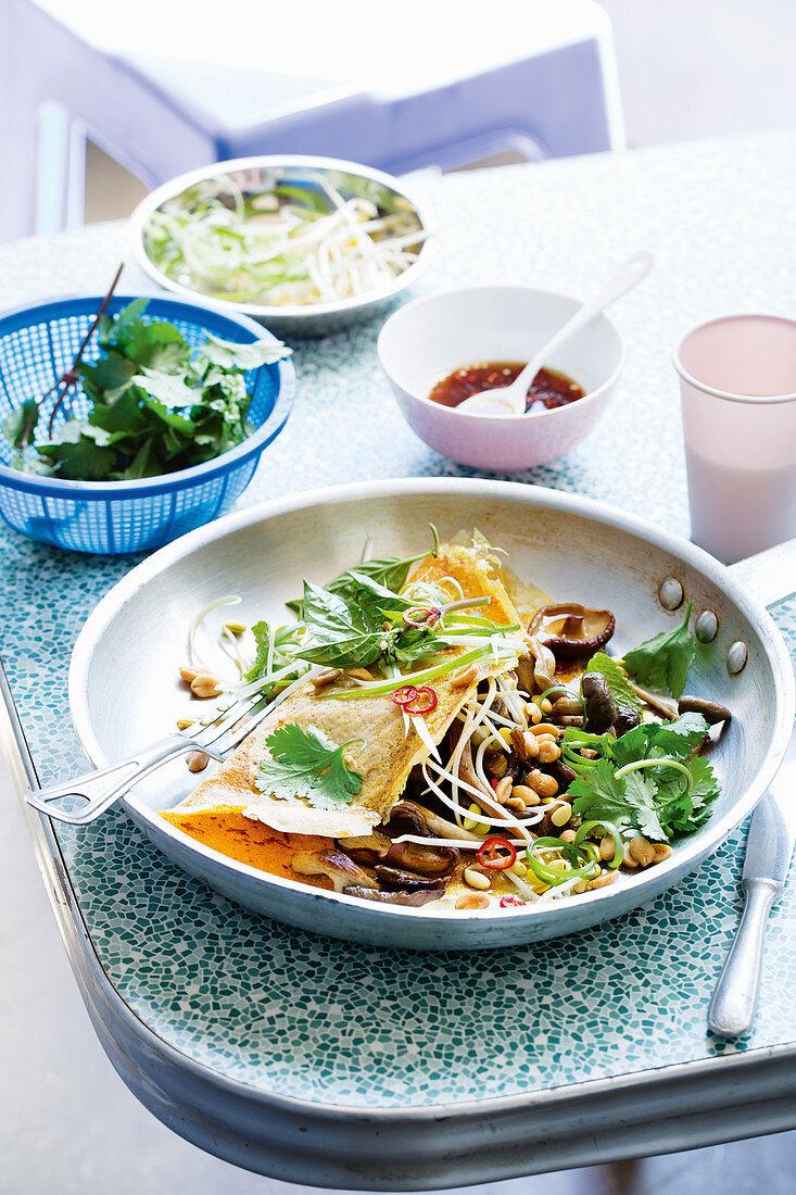 Thai breakfast omelettes