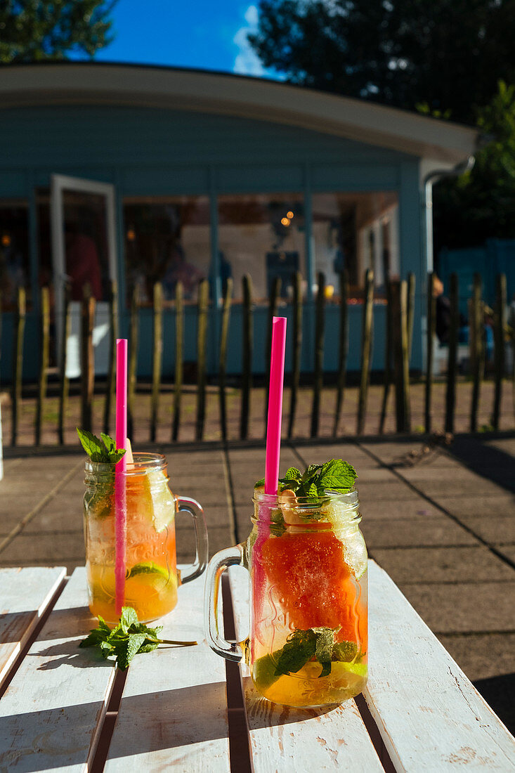 Summercocktails with fresh mint
