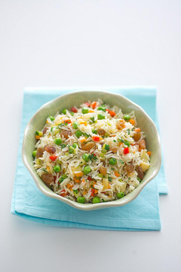 Brazilian-style vegetable rice