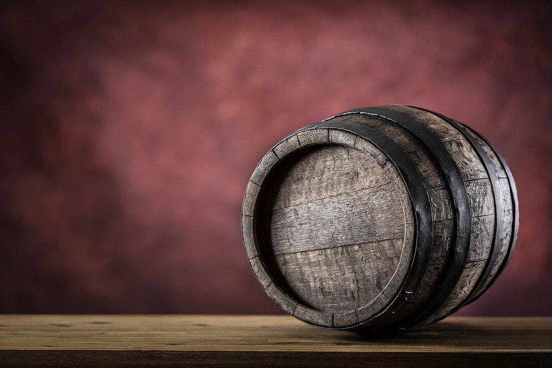 Old wooden barel