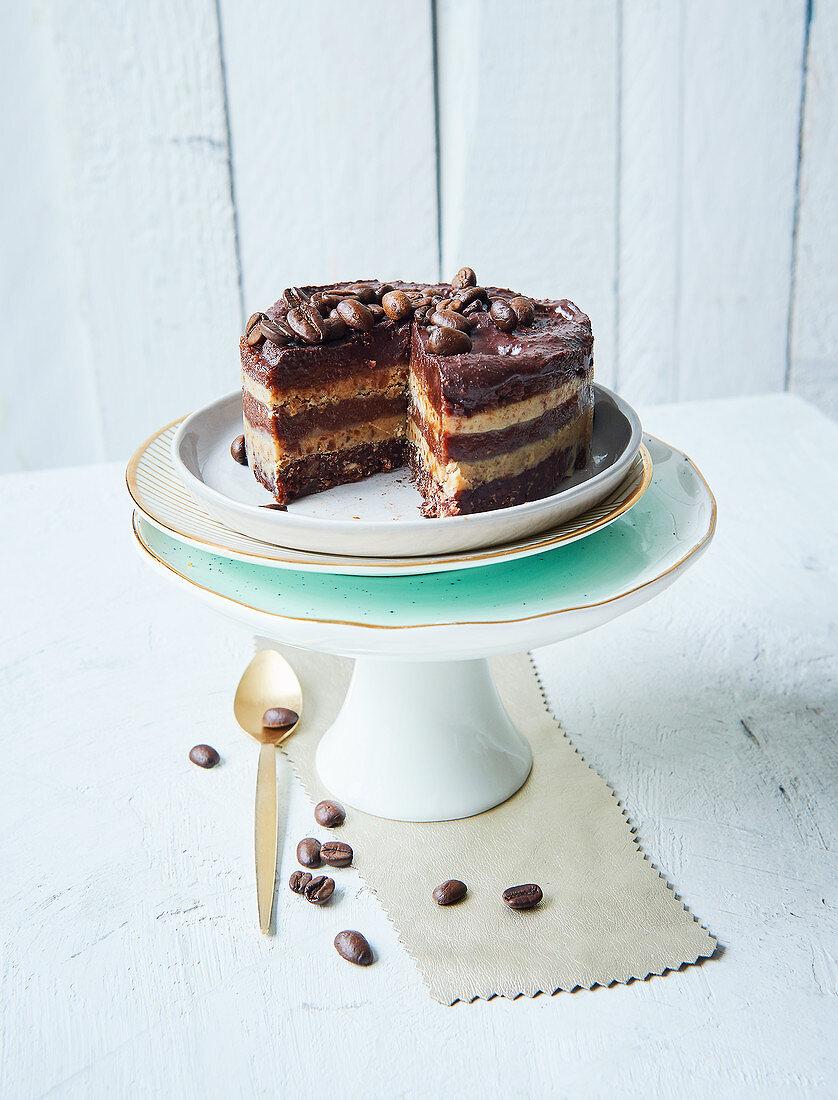 Sugar-free layered coffee cake