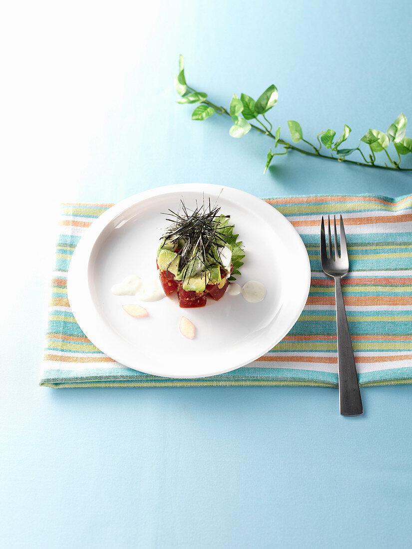 Tuna Avocado Salad, Tartar Sauce