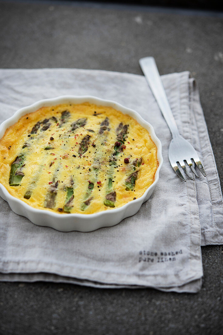 Oven Baked Omelette with Asparagus