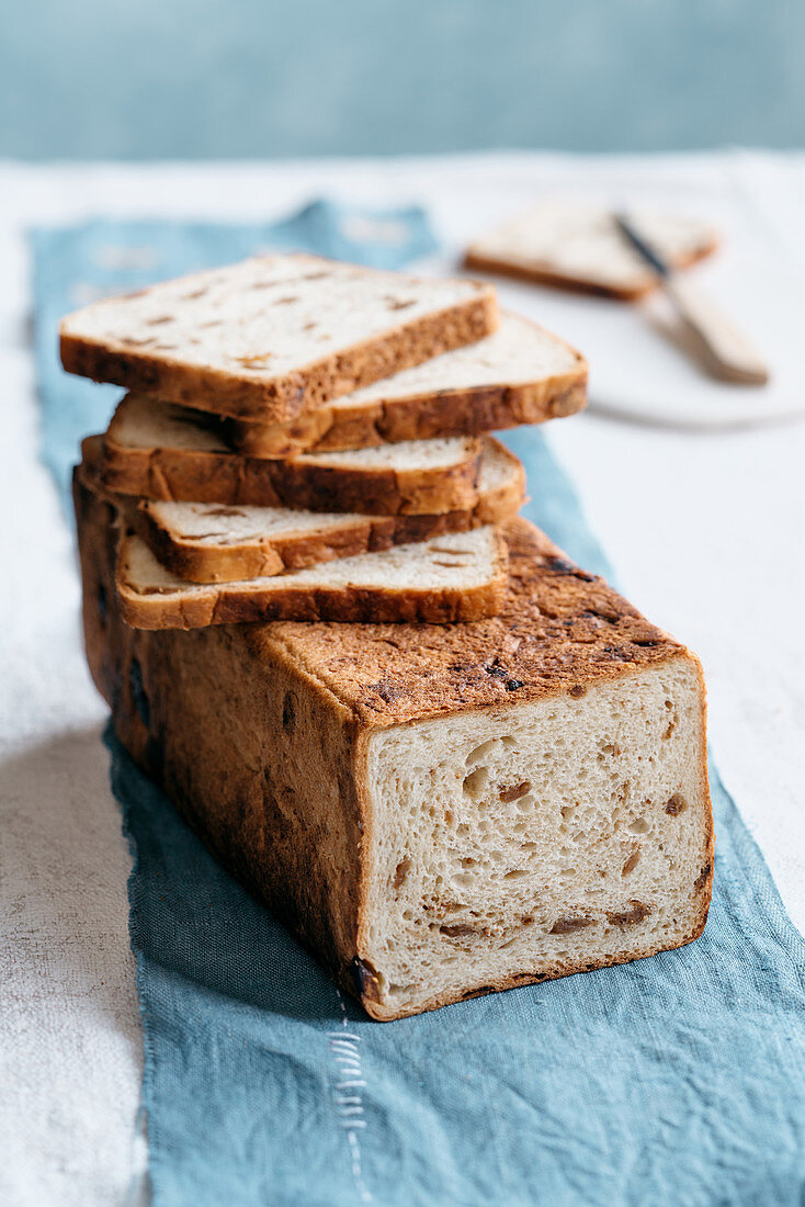 A loaf of bread made with dried figs