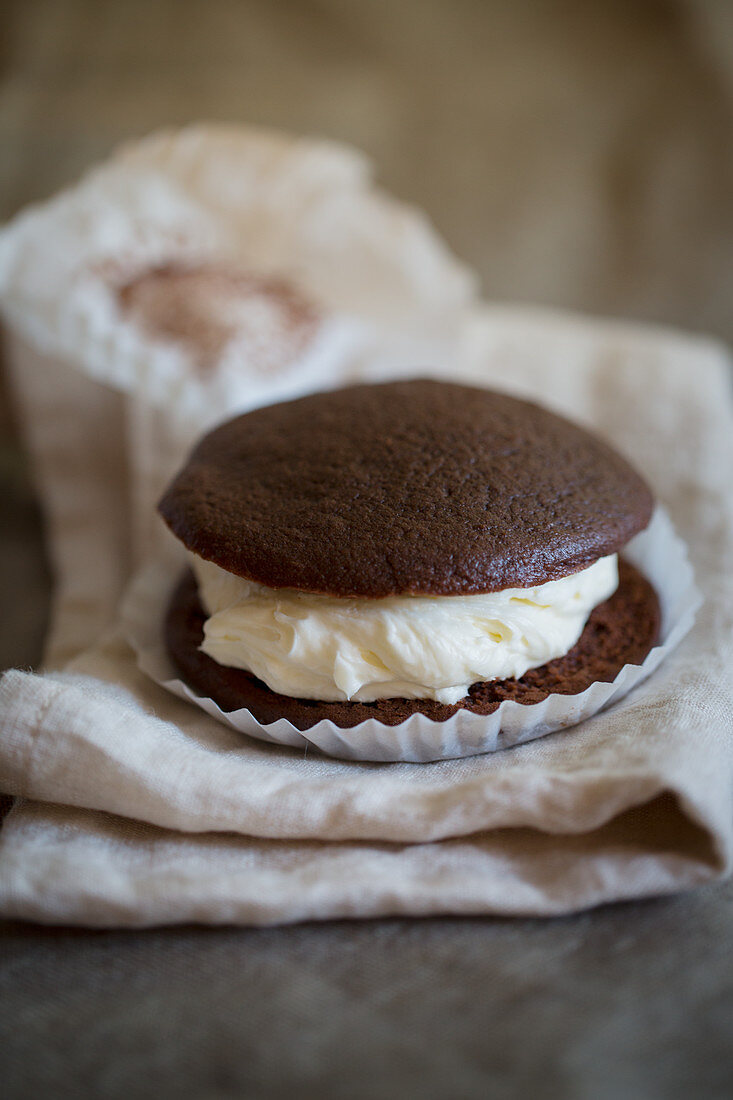 Whoopie Pie on a cloth