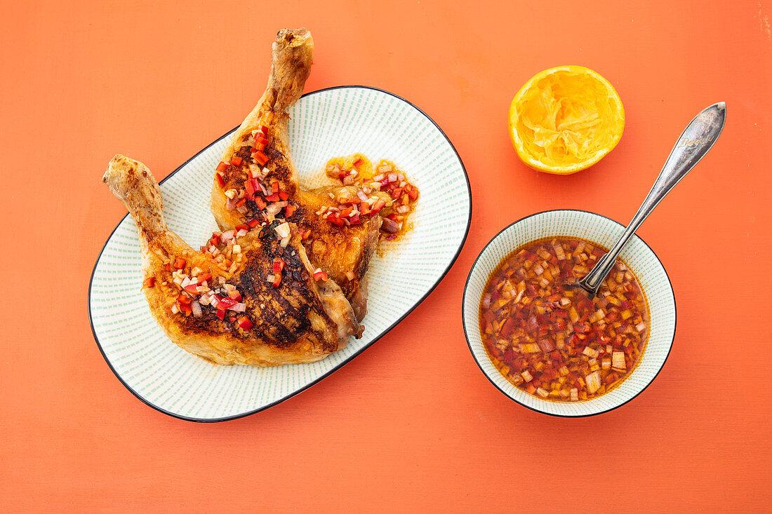 Piri-piri chicken legs