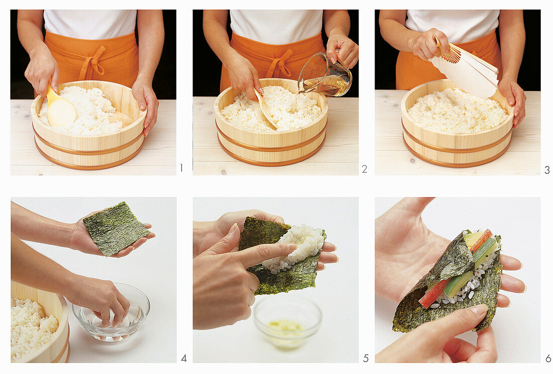 How to make sushi hand rolls