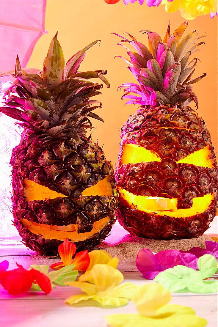 Halloween pineapple lanterns