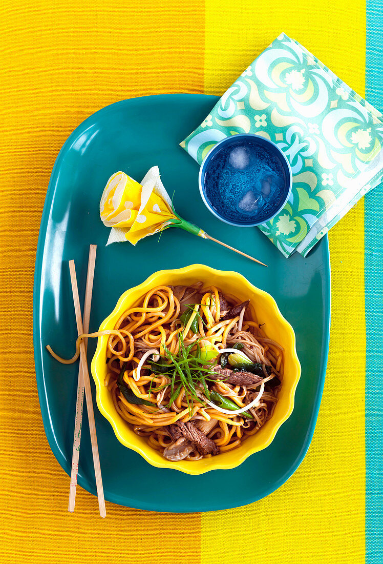 Stir-Fried Beef with Hokkien Noodles