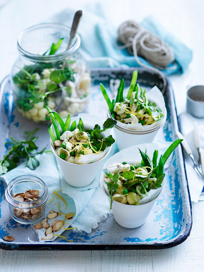 Chicken, Peas and Watercress Salad