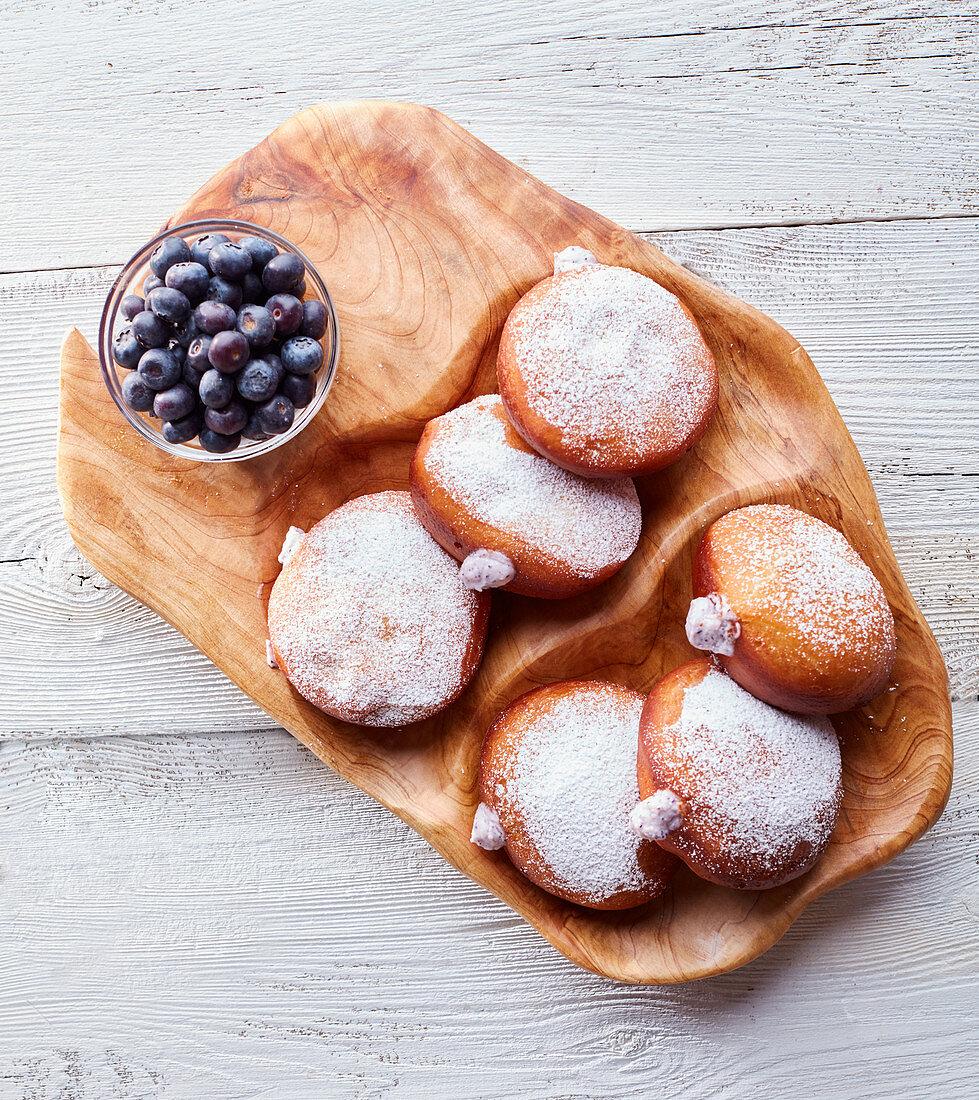 Chevre Filled Doughnuts