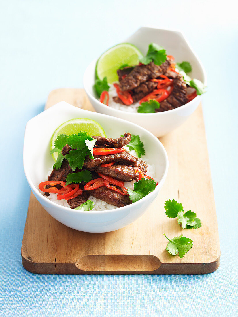 Salt and pepper beef with lime