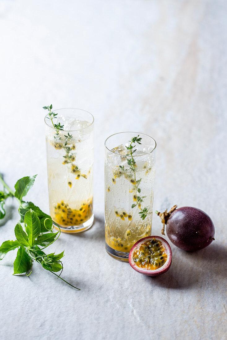 Granadilla and gin cocktail
